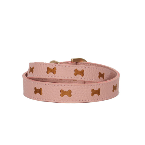 Pink Marshmallow Bone Collar
